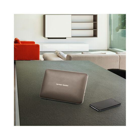 Esquire 2 - Gold - Premium portable Bluetooth speaker with quad microphone conferencing system - Detailshot 7