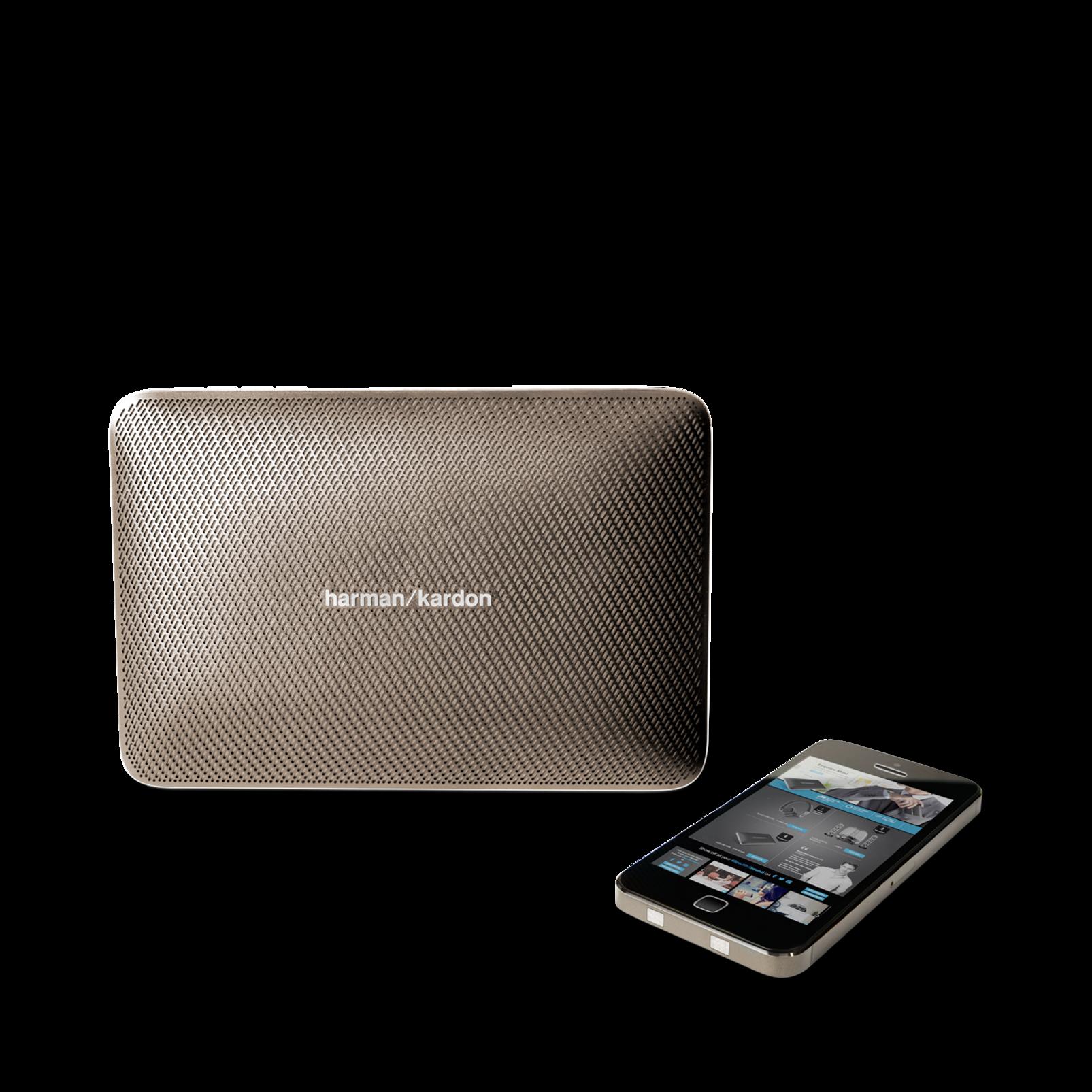 Esquire 2 - Gold - Premium portable Bluetooth speaker with quad microphone conferencing system - Detailshot 5