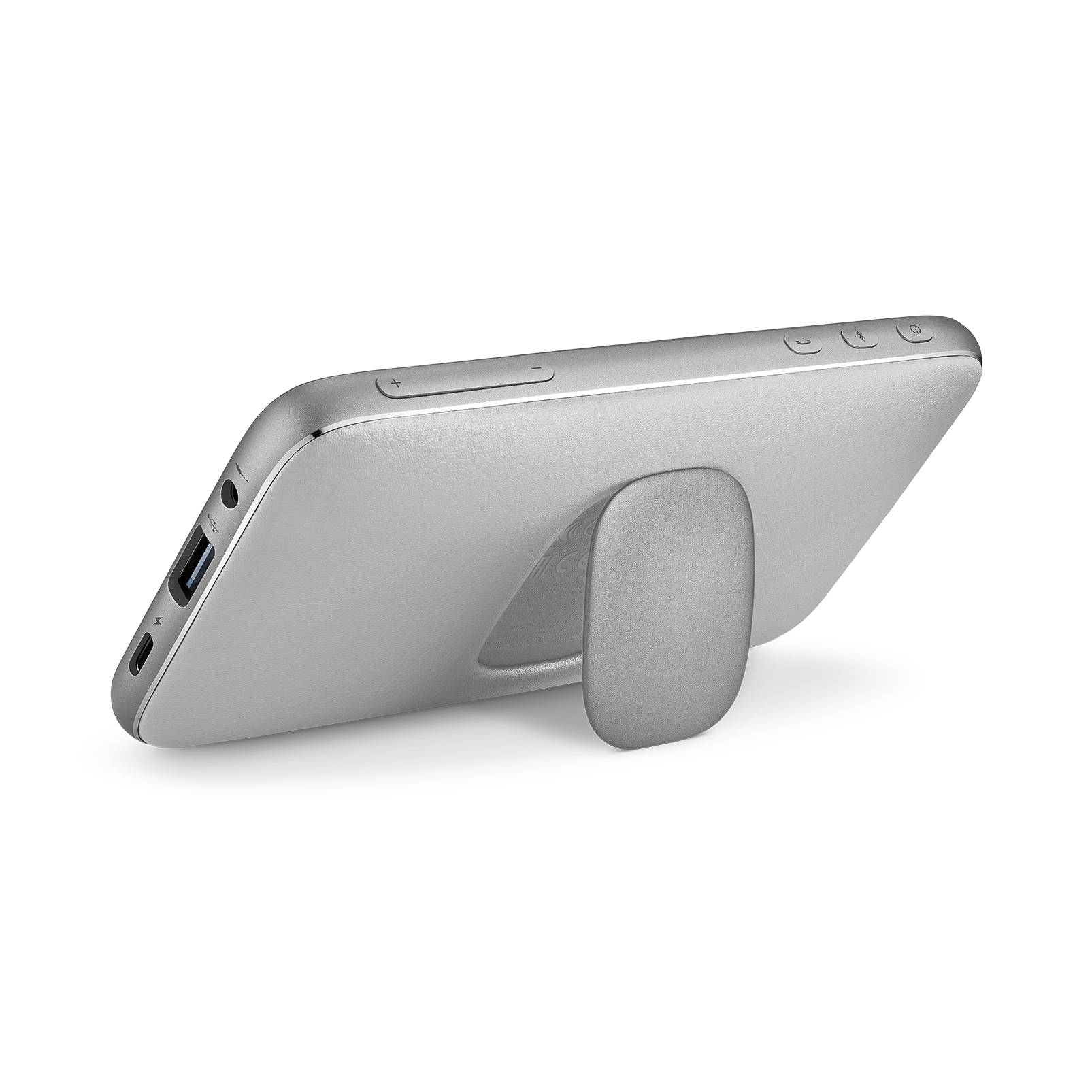 Harman Kardon Esquire Mini 2 - Silver - Ultra-slim and portable premium Bluetooth Speaker - Back